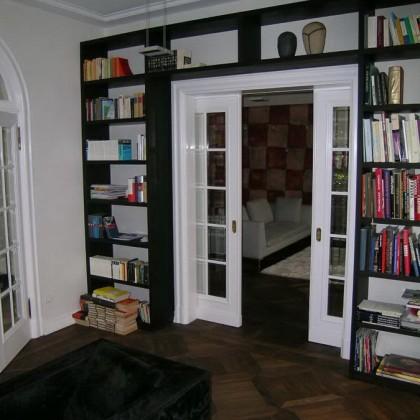 Bücherwand Räuchereiche